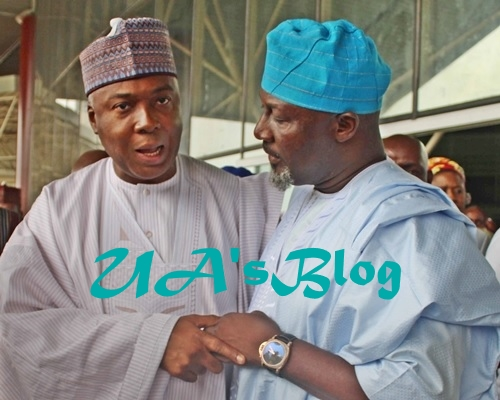 Saraki reacts to Dino Melaye's defection from APC to PDP