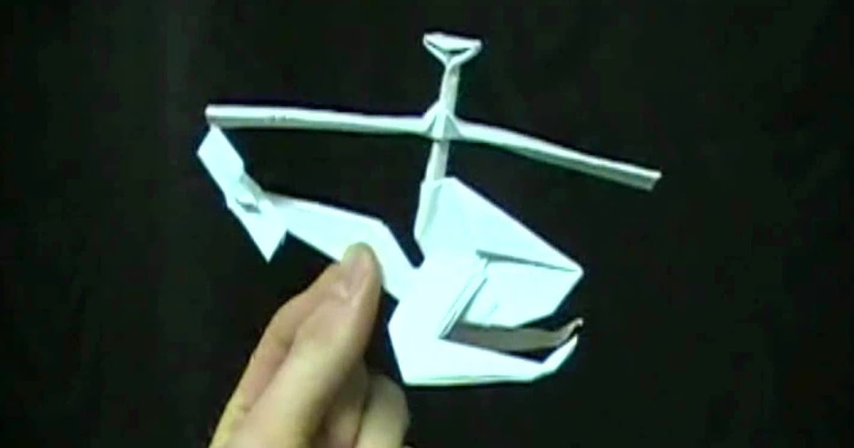 Make Origami Helicopter Craft Ideas And Art Projects