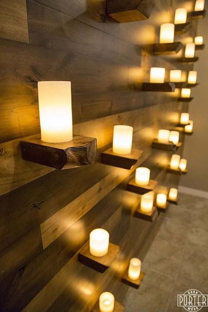 image result for alder shelves with candles