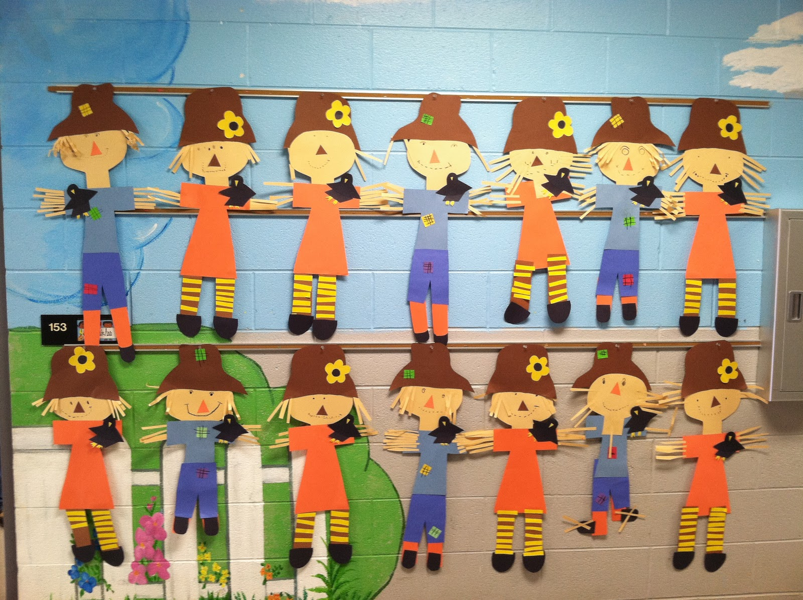 Life In First Grade A Fox And A Kit Scarecrows And Johnny Appleseed Door