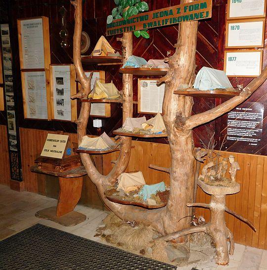 Ekspozycja muzeum turystyki i kultury górskiej.