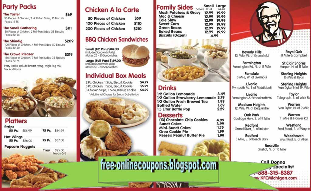 photo relating to Kfc Coupons Printable identify Printable Discount coupons 2019: Kfc Discount coupons