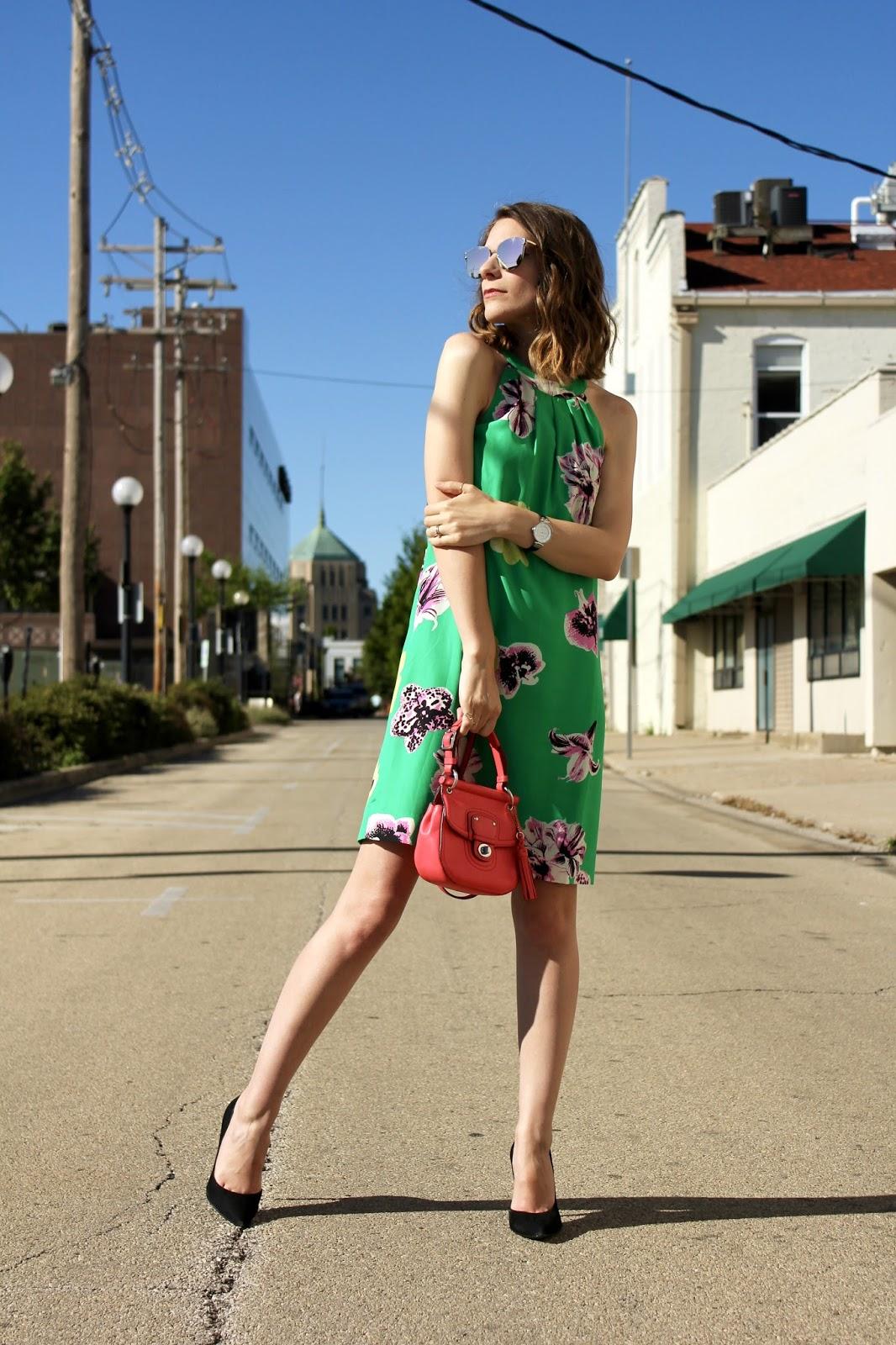 Green Summer Silk J.Crew Dress