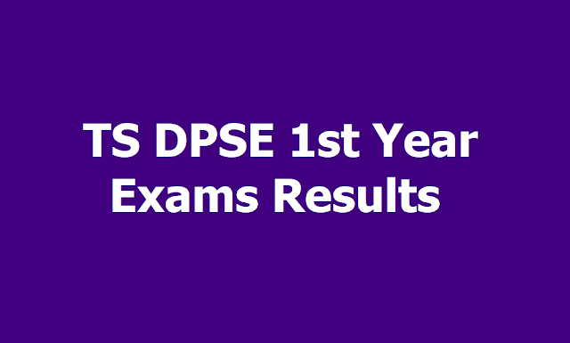 TS DPSE 1st Year Exams Results 2019 and Marks memo download from www.bse.telangana.gov.in