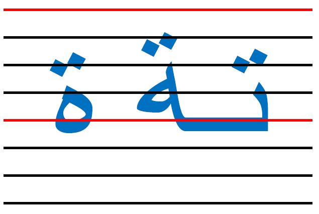 x9 - المقاييس الصحيحة  في الكتابة لكل الحروف العربية