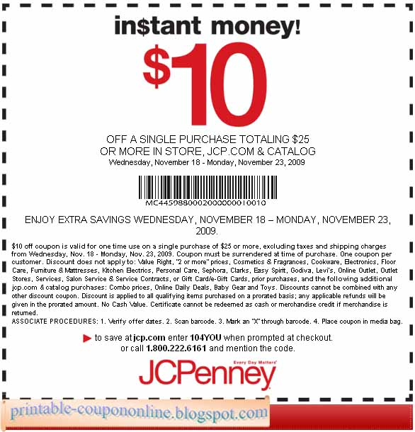 Use Off Jcpenney Printable Coupon, jcpenney printable coupons off , jcpenney 10 dollar printable coupon for home decor, shoes & jewelry for saving, get this codes now!