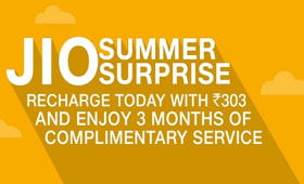 100GB of Free 4G Data in JIO Summer surprise With These Packs