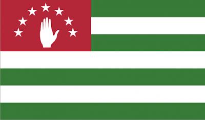 Gambar Bendera negara Abkhazia