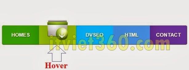 Code Css Icon thay đổi khi rê chuột vào trên Blogspot, Website
