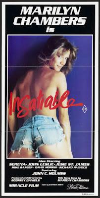 INSATIABLE de Stu Segall avec Marilyn Chambers, affiche, porno