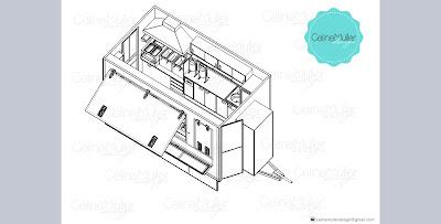 A etapa do projeto é importante para antes de ter o trailer pronto prevenir todas as possíveis falhas de layout operacional. Nessa etapa se pensa sobre onde é melhor ficar cada equipamento para não ter cruzamento de operação.