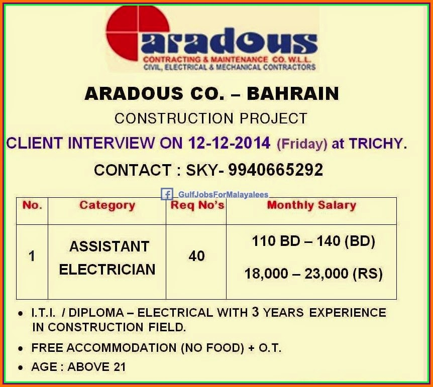 Construction Project Bahrain job vacancies - Gulf Jobs for
