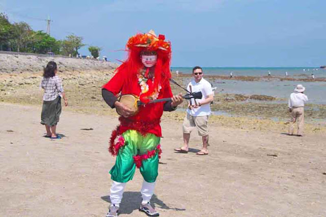 costume, sanshin, music, beach, Okinawa