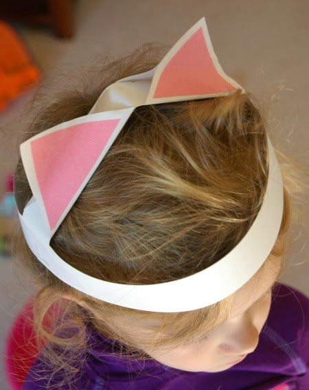 Paper Kitty Cat Ears Craft for Kids