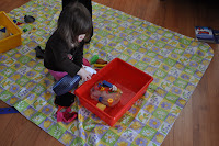 Winter fine motor activities with frozen ice