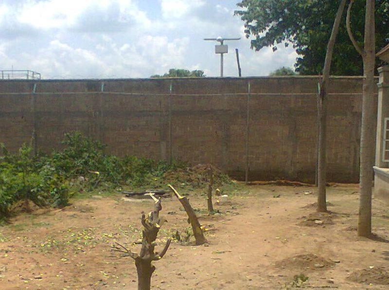 Pictures of fence where Charles Okah escaped prison from in Kuje Prison