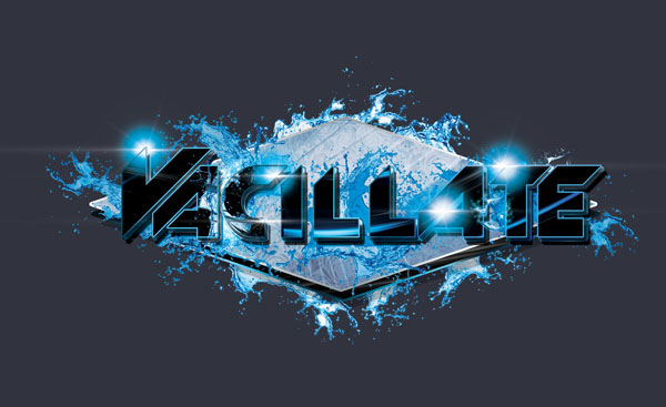 DJ Vacillate Logo Design Black And Silver Variation