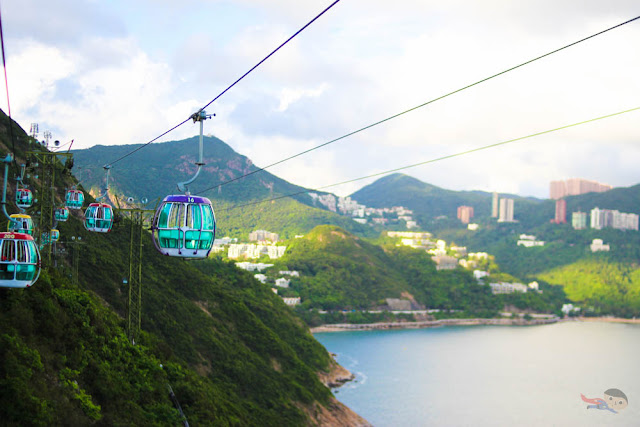 Cable Car in Ocean Park, Hong Kong