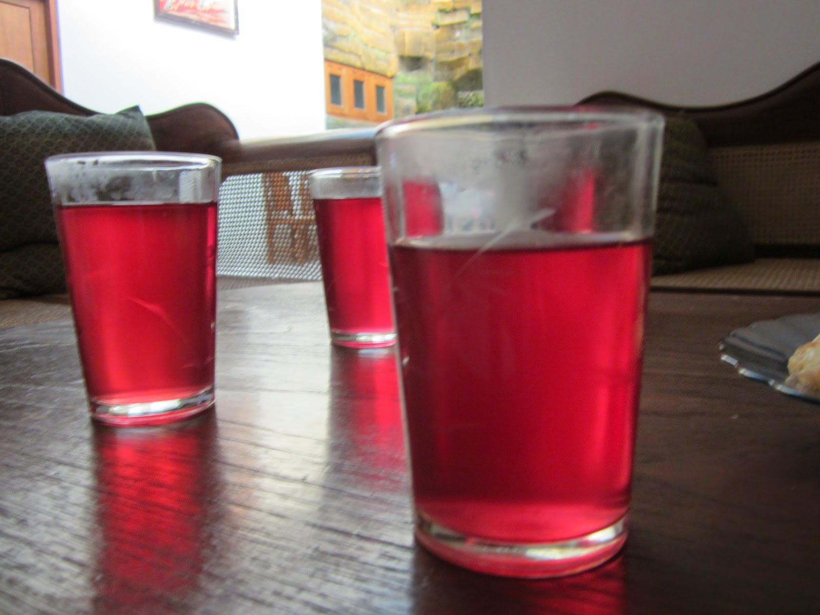resep dan cara membuat teh rosela gula palem