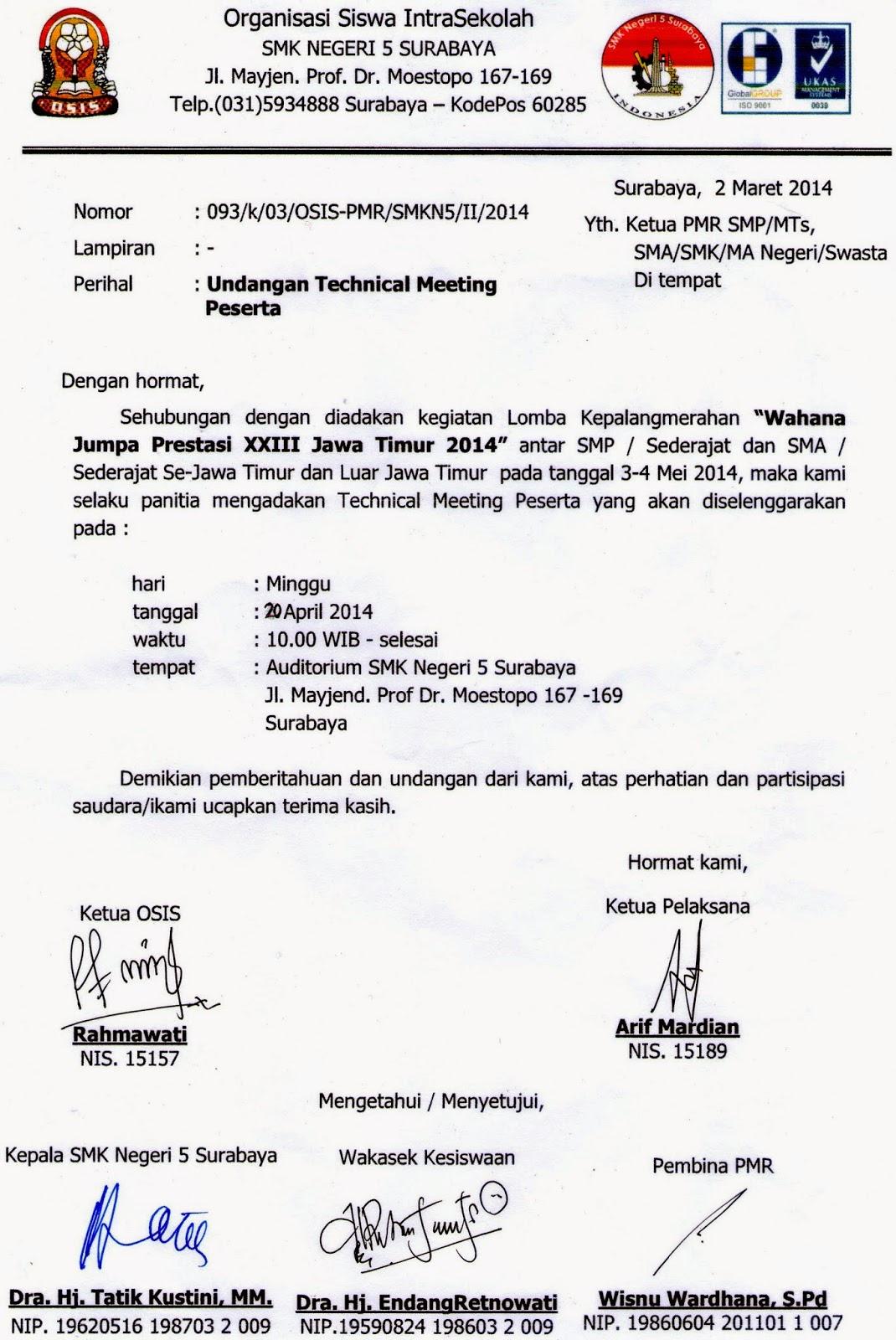Contoh Surat Undangan Meeting Bahasa Inggris