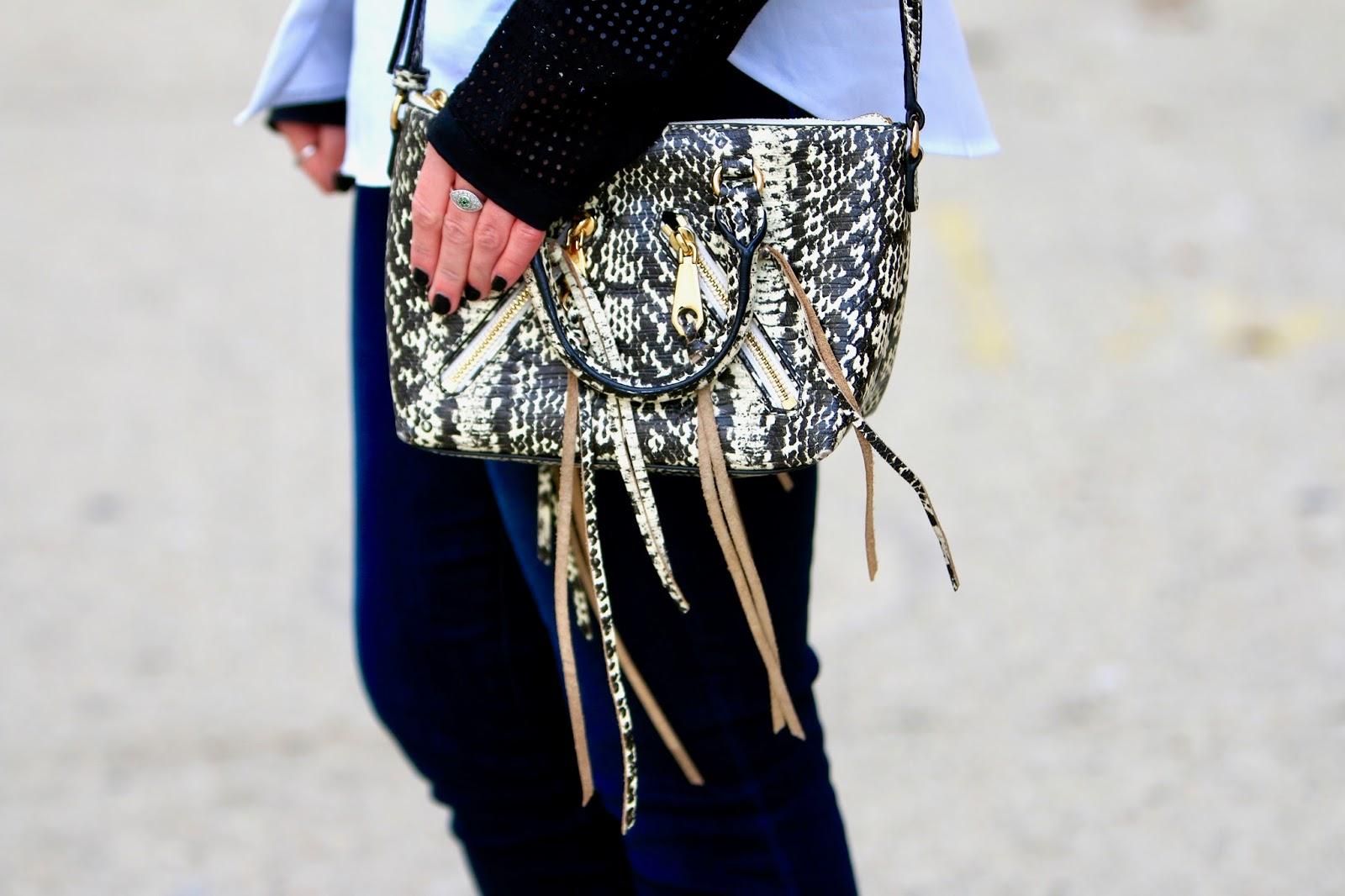 rebecca minkoff snakeskin purse