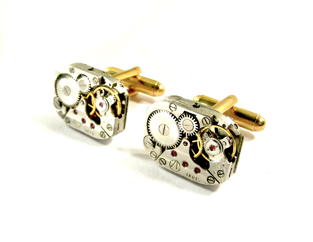04-Anniversary-watch-Cufflinks-Nicholas-Hrabowski-Steampunk-Jewelry-from-Recycled-Watches-and-Bullets-www-designstack-co