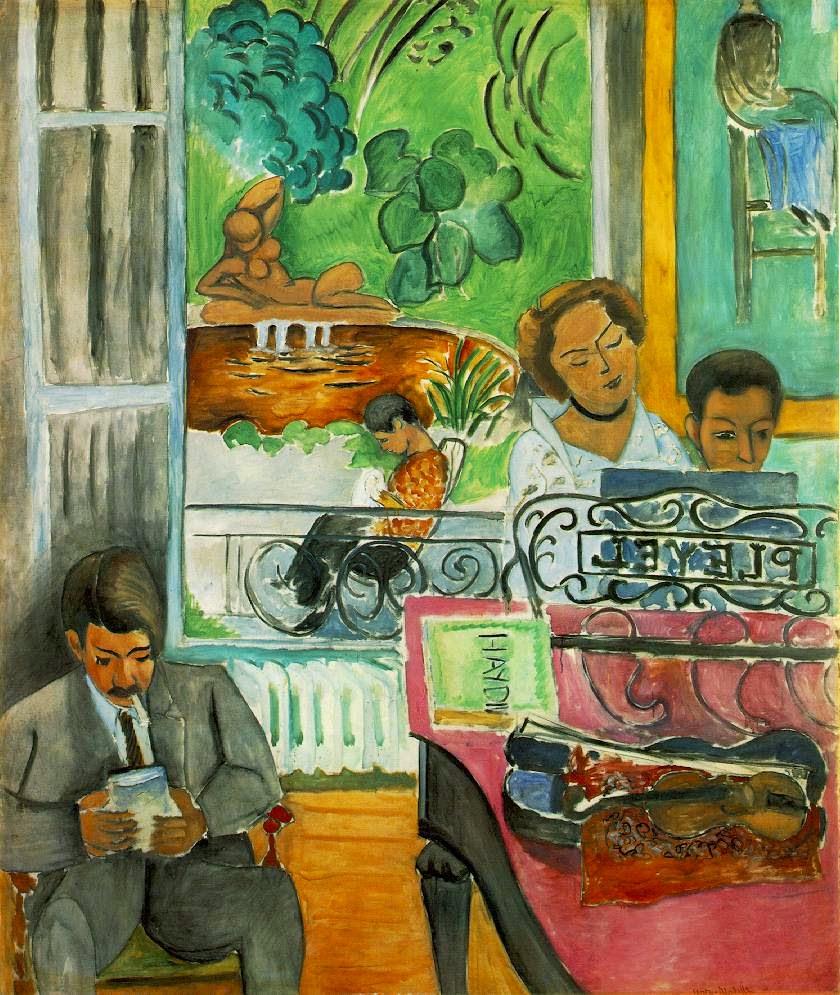 A Lição de Música - Pinturas de Matisse, Henri - (Fauvismo) Francês