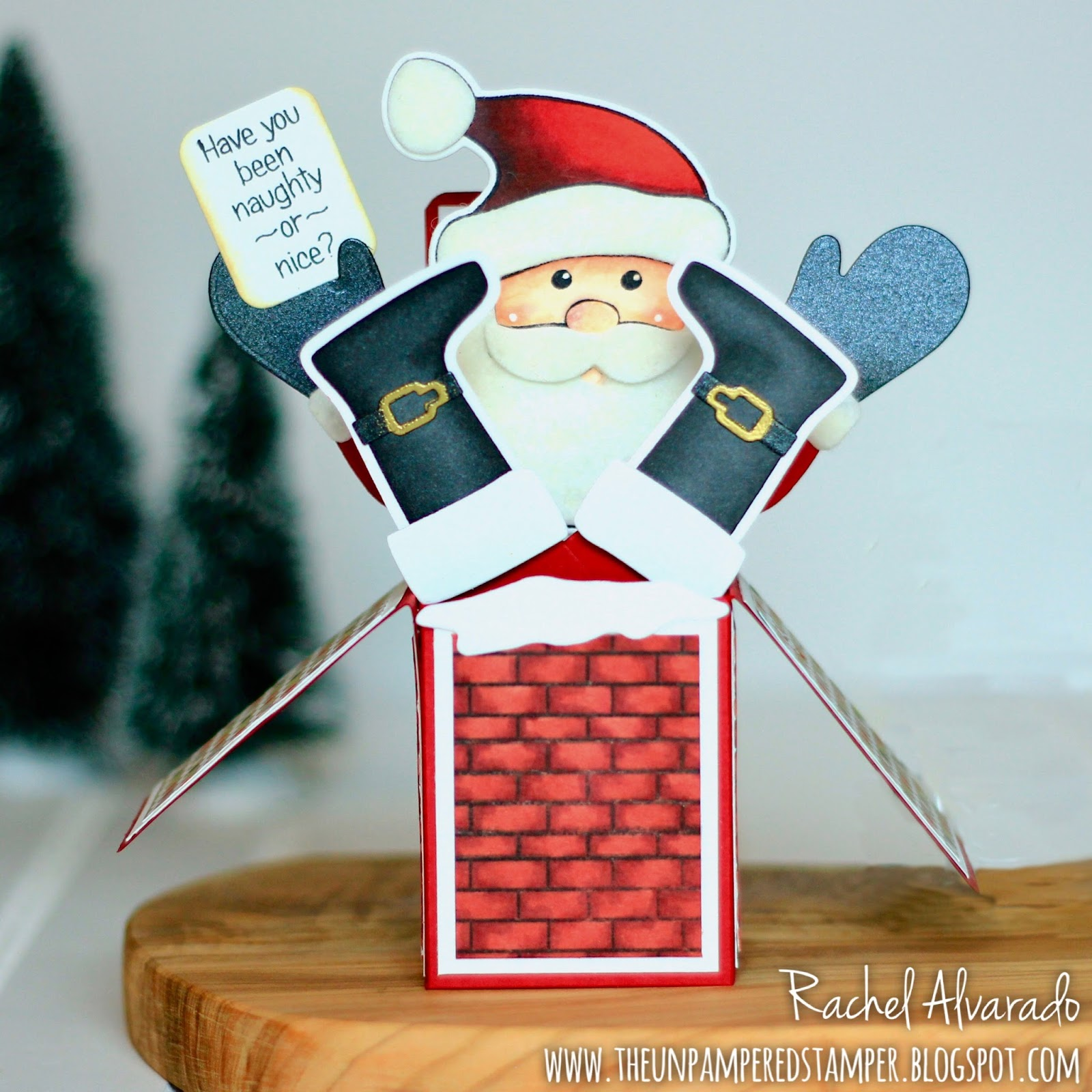 The Unpampered Stamper: Have You Been Naughty or Nice? Santa Box ...