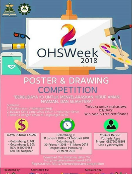 Lomba Poster & Drawing Competition OHSWeek 2018