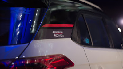 Hyundai Creta 1st Anniversary Edition sticker on the C Pillar Hd Images