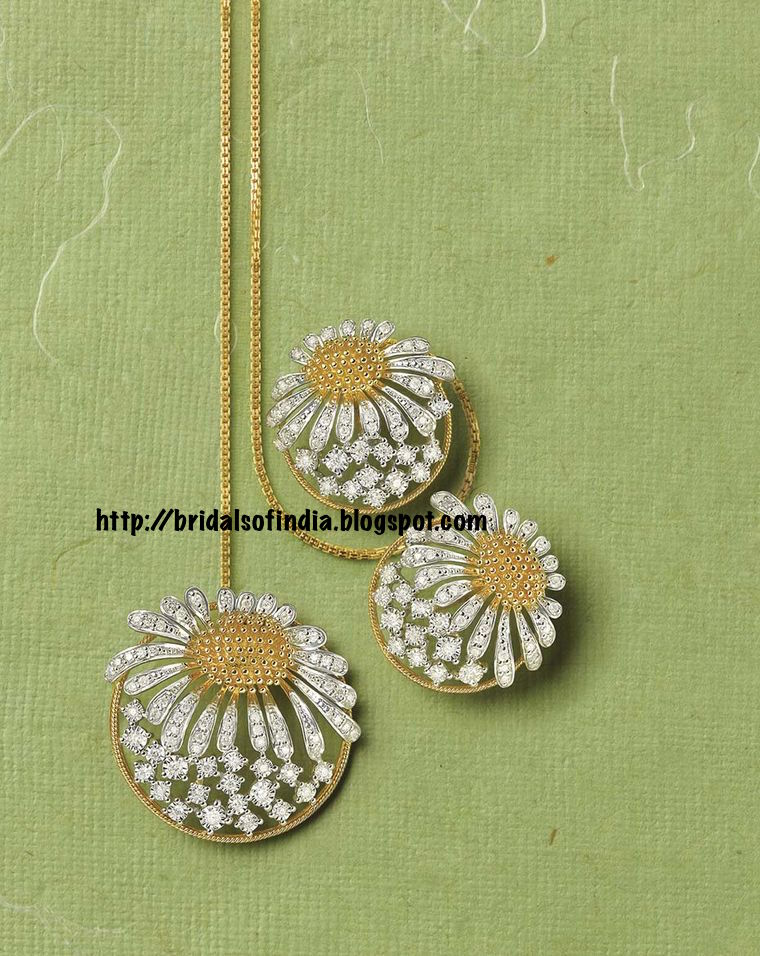 Fashion world: Tanishq Zyra collection white and yellow ...
