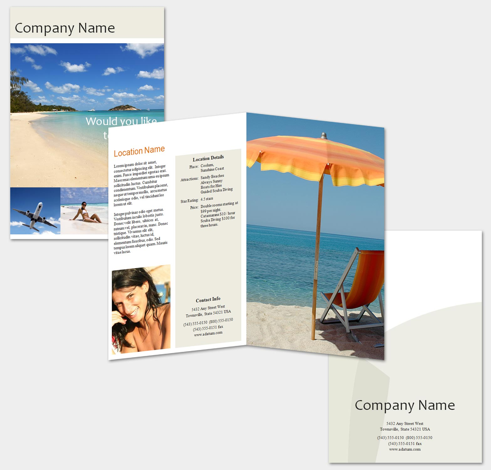 Brochure Zafira Pics Indesign Brochure Templates: Brochure Zafira Pics: Brochure Templates