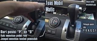 Cara menggunakan mobil Matic yang benar.
