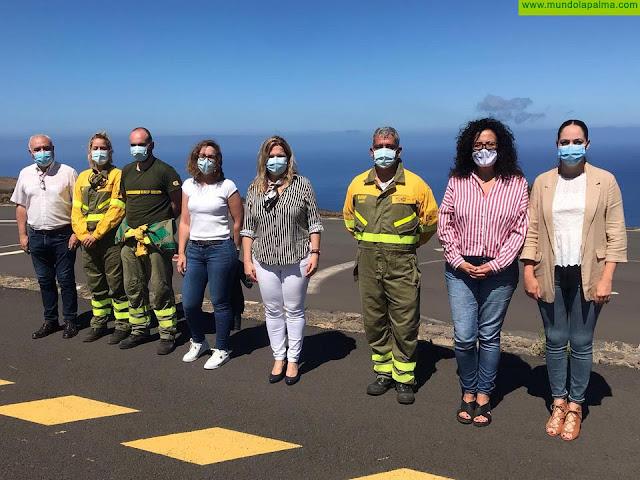 El Cabildo valora la presencia de la BRIF en La Palma y elogia el trabajo desplegado por esta base