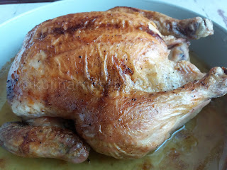 Печено пиле с маслена коричка