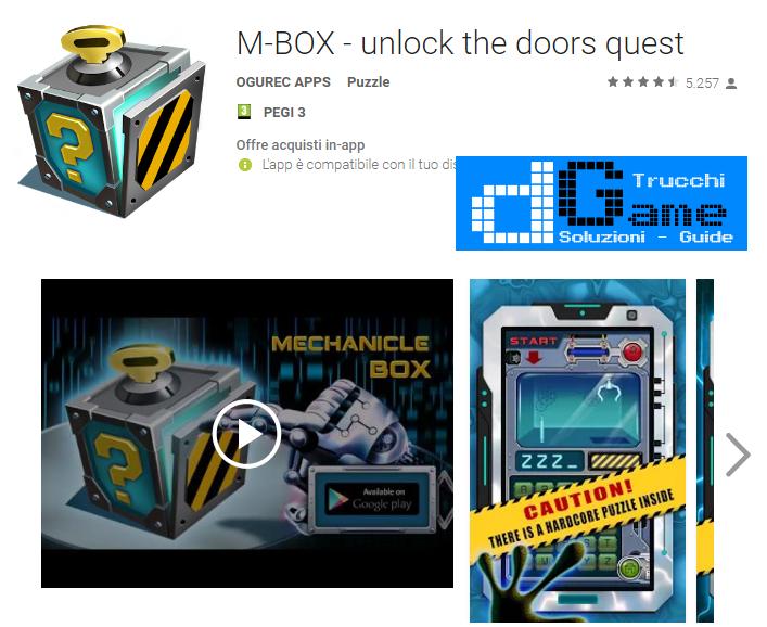 Soluzioni Mechanical box livello  1  2  3  4  5  6  7  8  9 10   Trucchi e  Walkthrough level