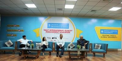 CXO's meet: Talk on Strategic Sales, Leadership & Fund Raising at Jagran Lakecity Business School.