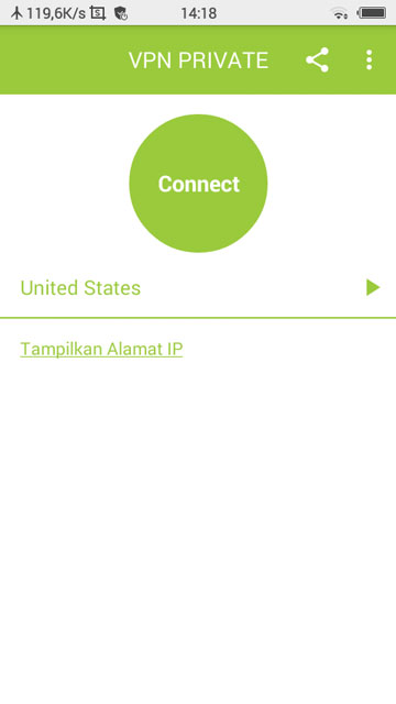 Pilih Negara dan Klik Connect. - Cara Menggunakan VPN Turbo di Android (Dilengkapi Tutorial Video)