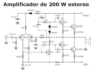 1000w Audio Amplifier Circuit Diagrams Electronica Casero Amplificador De 200w