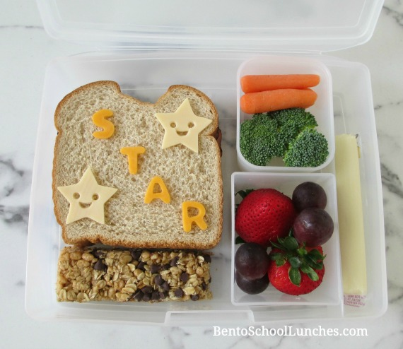 Smiley Star bento school lunch