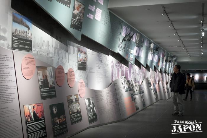 Frise chronologique dissuasion nucléaire, musée de la bombe atomique, Nagasaki