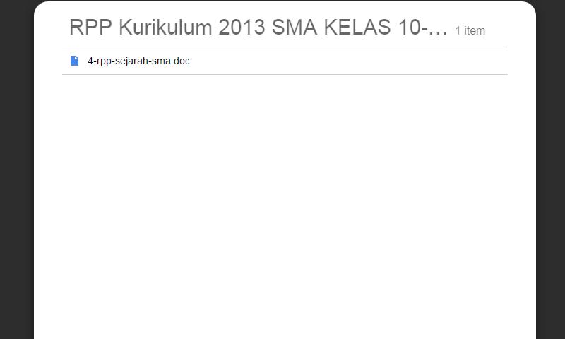 New Revisi Rpp Kurikulum 2013 SMA Kelas 10-11-12 Sejarah SMA LengkapTerbaru
