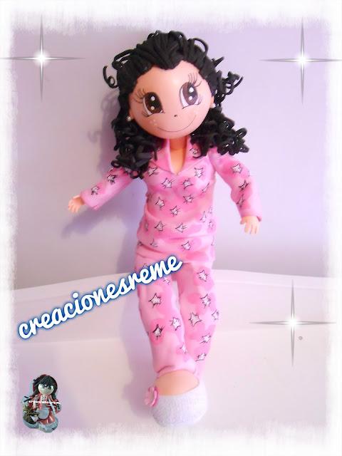 fofucha-creacionesreme-personalizadas-foami –policia-ositofofucho-osito-adorno-fofucha-fofucha-pijama-pijama-pìntado-amano-lasmejores-fofuchas-pintadas-amano