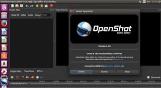 إصدار OpenShot محرر الفيديو 2.1  يدعم 64 بت نظام لينكس
