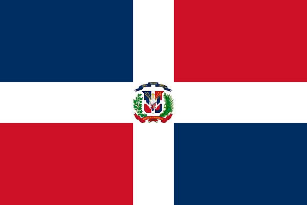 Logo Gambar Bendera Negara Republik Dominika PNG JPG ukuran 600 px
