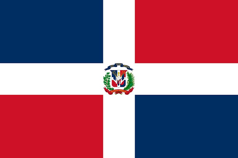 Logo Gambar Bendera Negara Republik Dominika PNG JPG ukuran 800 px