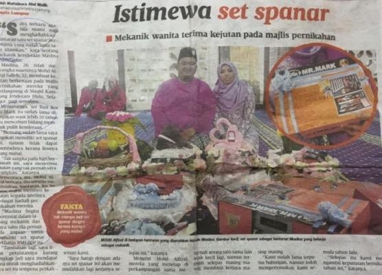 Spanar RM1,000 atas dulang hantaran buat isteri terharu