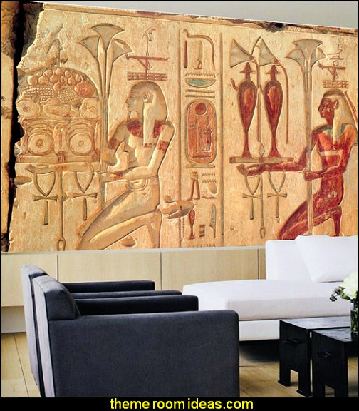 Decorating theme bedrooms maries manor egyptian theme for Egyptian wallpaper mural