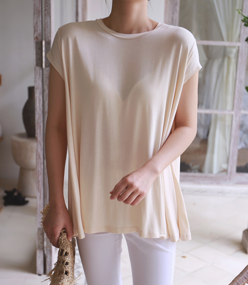 Short Sleeve Crew Neck Loose-Fitting T-Shirt