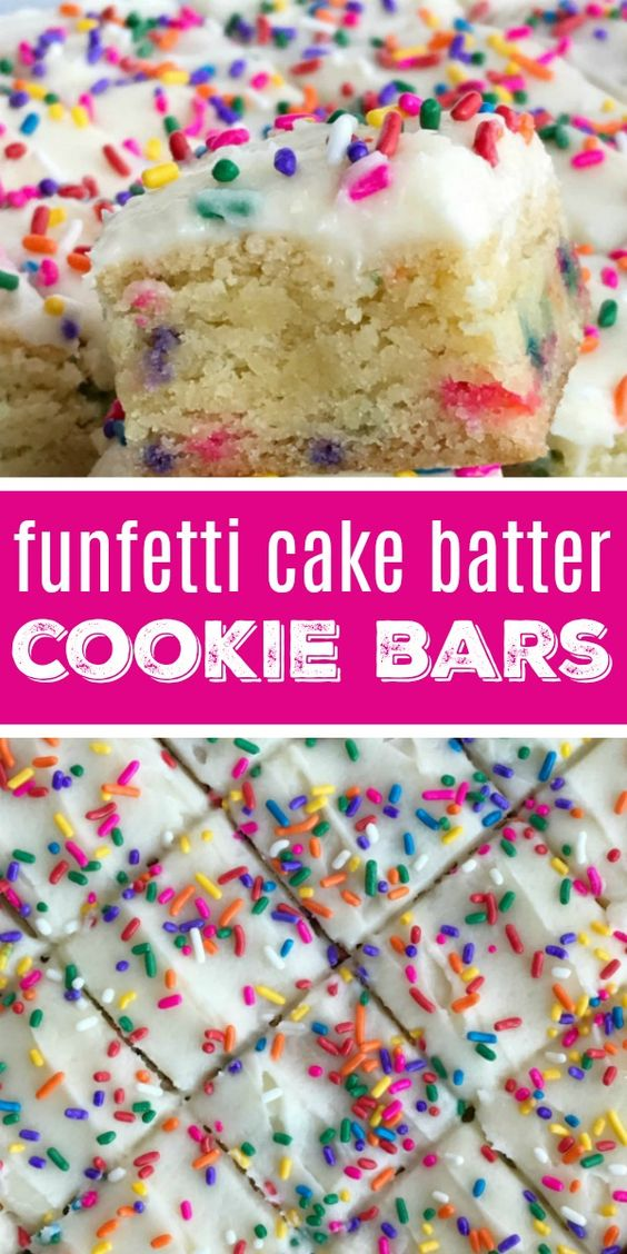 Funfetti Cake Batter Cookie Bars #funfetti #cake #cakerecipes #batter #cookie #cookierecipes #bars #dessert #dessertrecipes #easydessertrecipes Desserts, Healthy Food, Easy Recipes, Dinner, Lauch, Delicious, Easy, Holidays Recipe, Special Diet, World Cuisine, Cake, Grill, Appetizers, Healthy Recipes, Drinks, Cooking Method, Italian Recipes, Meat, Vegan Recipes, Cookies, Pasta Recipes, Fruit, Salad, Soup Appetizers, Non Alcoholic Drinks, Meal Planning, Vegetables, Soup, Pastry, Chocolate, Dairy, Alcoholic Drinks, Bulgur Salad, Baking, Snacks, Beef Recipes, Meat Appetizers, Mexican Recipes, Bread, Asian Recipes, Seafood Appetizers, Muffins, Breakfast And Brunch, Condiments, Cupcakes, Cheese, Chicken Recipes, Pie, Coffee, No Bake Desserts, Healthy Snacks, Seafood, Grain, Lunches Dinners, Mexican, Quick Bread, Liquor